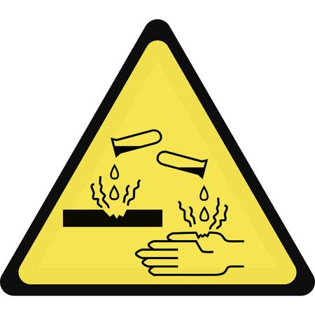 corrosive sign Illustration