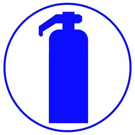fire extinguisher sign: signo de extintor de incendios