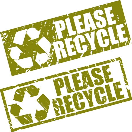 please recycle stamp Vector