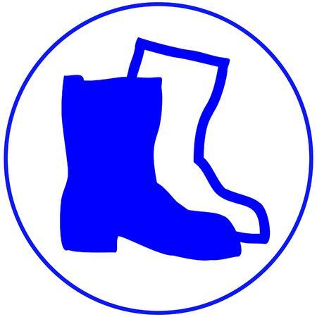 安全靴を着用します。