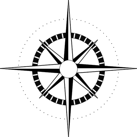 compass rose: compass Illustration