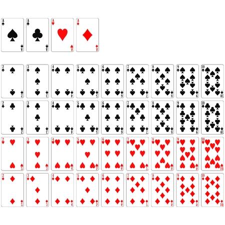 baraja de cartas Ilustración de vector