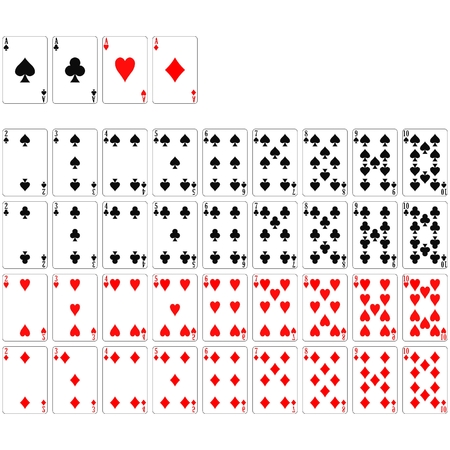 ace of diamonds: deck of cards Illustration