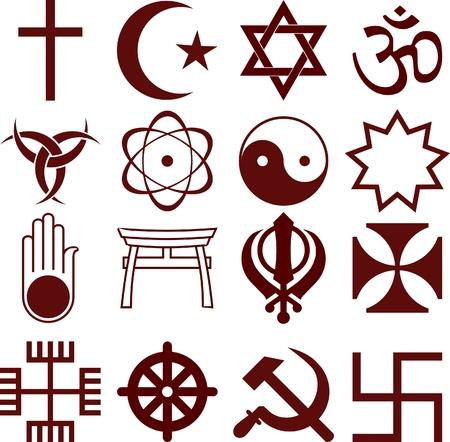symbole de la paix: ic�nes religieuses  Illustration