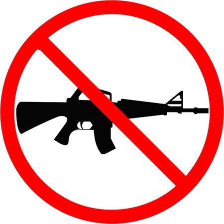 dieven: geen pistolen Stock Illustratie