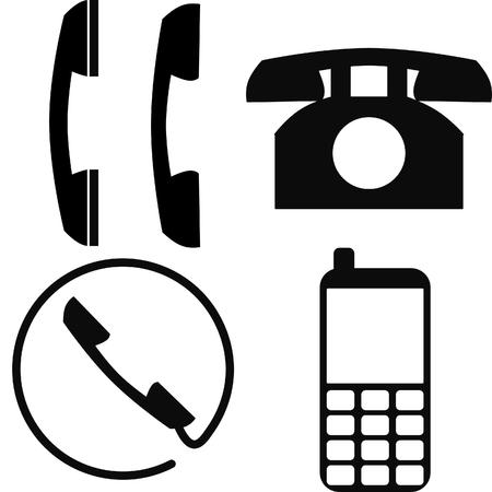 cabina telefonica: tel�fono  tel�fono  m�vil iconos  Vectores