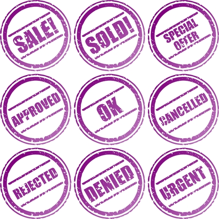 various rubber stamps Stock Vector - 3320161