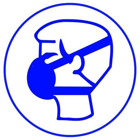 danger chimique: porter un masque anti-poussi�re