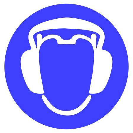wear earmuffs or ear plugs Illustration