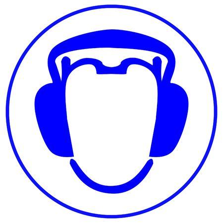 wear earmuffs or ear plugs Vector