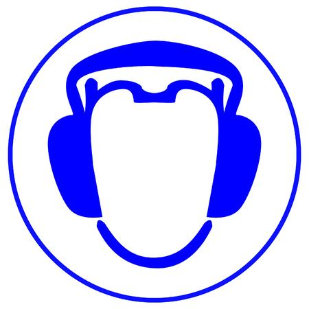 head phones: wear earmuffs or ear plugs Illustration