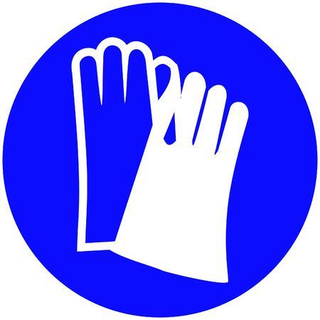 worn sign: guantes deben ser usados  Vectores