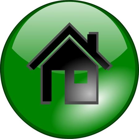icon home Stock Vector - 3320163
