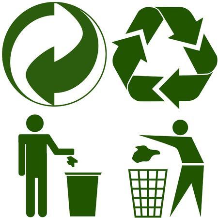 vier verschillende ecologie pictogram