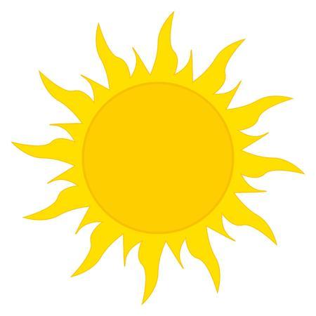 el sol: Domingo icono Vectores