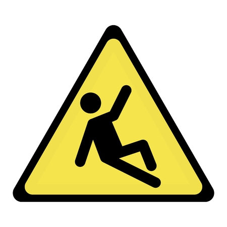 slippery warning symbol: slippery hazard Illustration