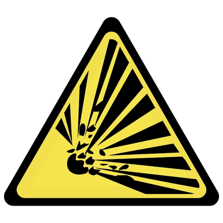 warning triangle: yellow explosion