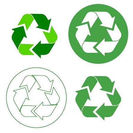 リサイクルの記号  イラスト・ベクター素材
