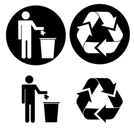 リサイクル アイコン  イラスト・ベクター素材