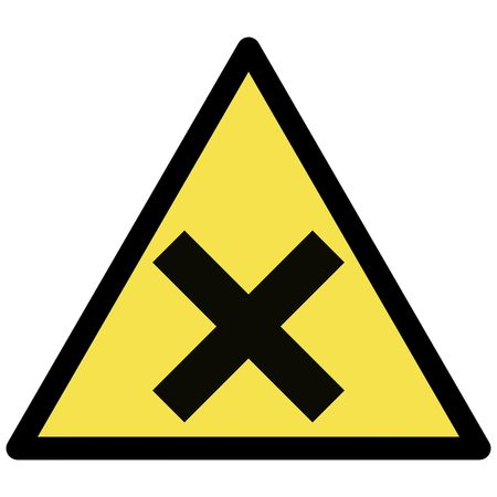irritant  warning sign Stock Vector - 3383897