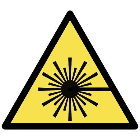 señal de advertencia de láser Ilustración de vector