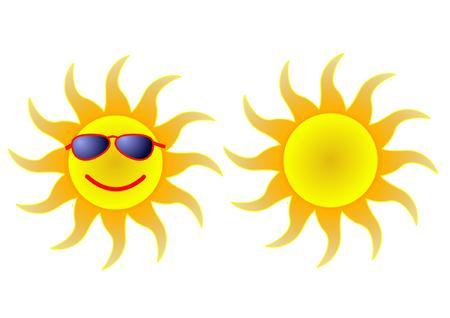 sun in shades Illustration