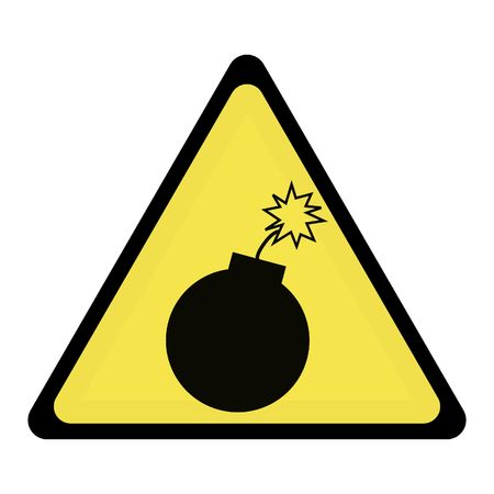 bomb warning sign Stock Vector - 3383915