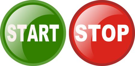 emergency call: startt stop sign Illustration