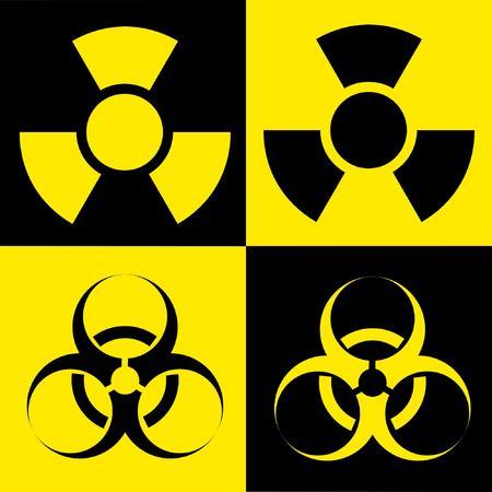 radio active and biohazard Stock Vector - 3383921