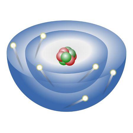 Átomo de carbono  Foto de archivo - 3428846