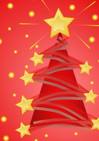 christmas tree red photo