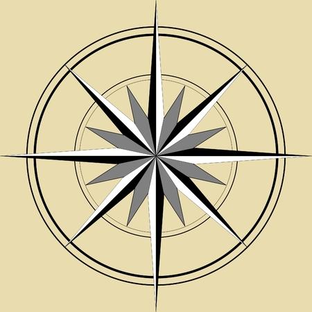 buccaneer: compass Illustration