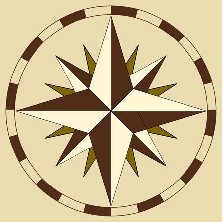 lost world: compass Illustration