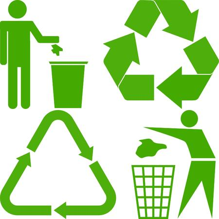 recycle trash: ecolog�a signos