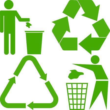 logo recyclage: l'�cologie des signes  Illustration