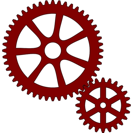 gear and pinion Vector