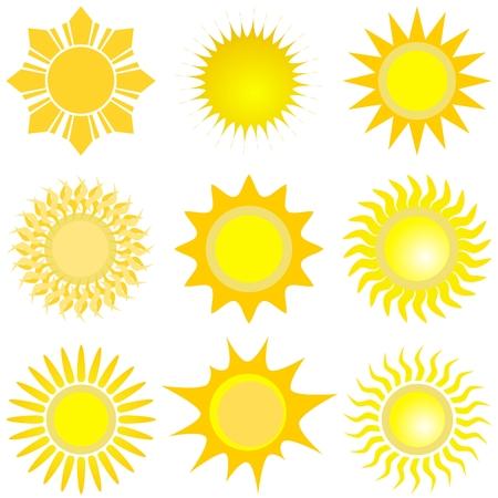 太陽が設定