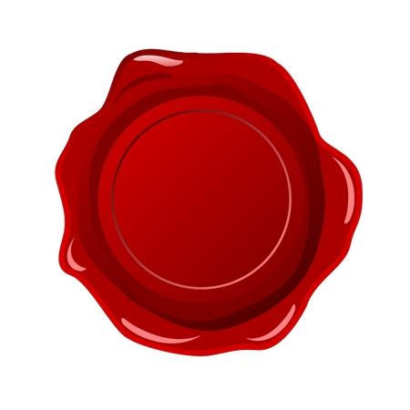 red wax seal: wax seal blank