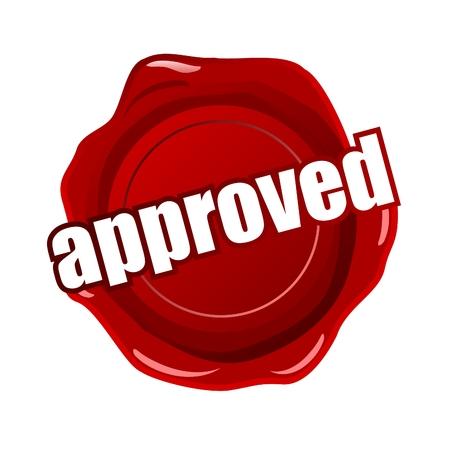 assured: sello de cera aprobado Vectores