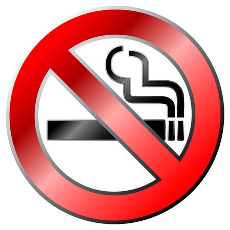 prohibido fumar: No fumar signo