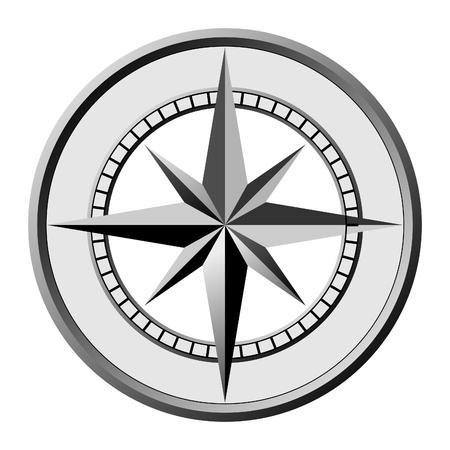 nautical compass: compass Illustration