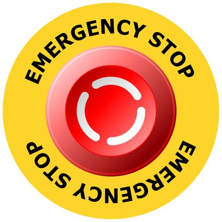 boton stop: bot�n de parada de emergencia Vectores