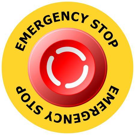pulsante di arresto di emergenza Vettoriali