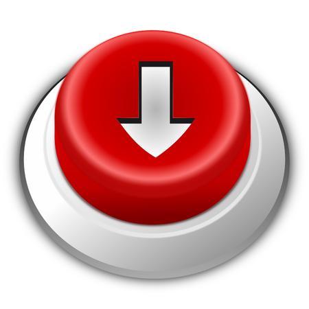 Rood Download knoppictogram Vector Illustratie
