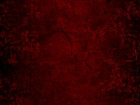 Shaded red rustic stone background with faint floral designs