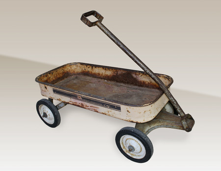 An old, vintage, rusty wagon