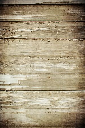 barn wood: Wanted worn wood with peeling paint Stock Photo