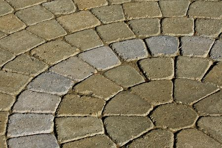 varying: Cobblestone pattern with varying huse of the stone bricks Stock Photo