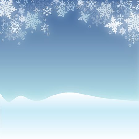 Snowy Christmas Winter Scene