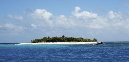 An isolated tropical island in the caribbean ocean